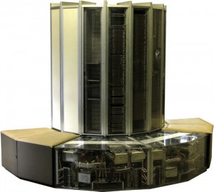 A Cray-1 on display in Switzerland (photographed by Rama)